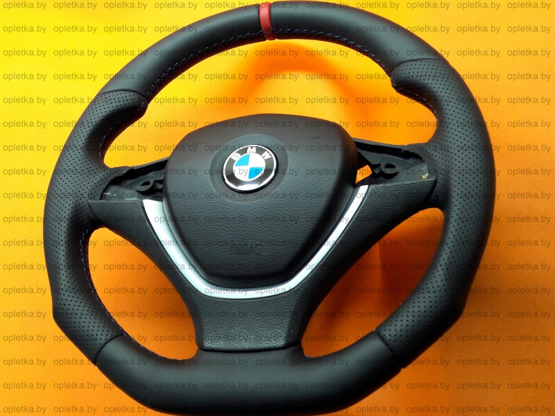 BMW_E71_Hamann_Steering-wheel+Nappa_Strip-red_flat_bottom (2)